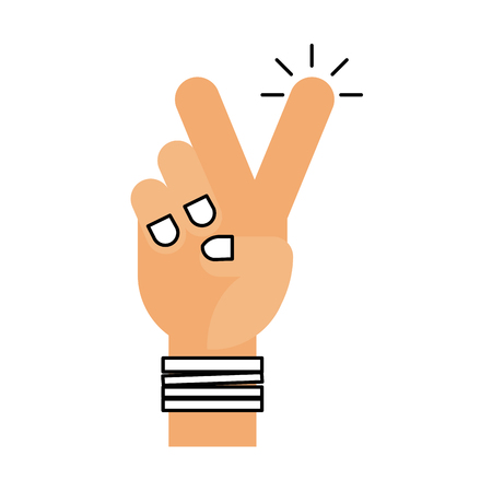 hand human peace and love symbol vector illustration design