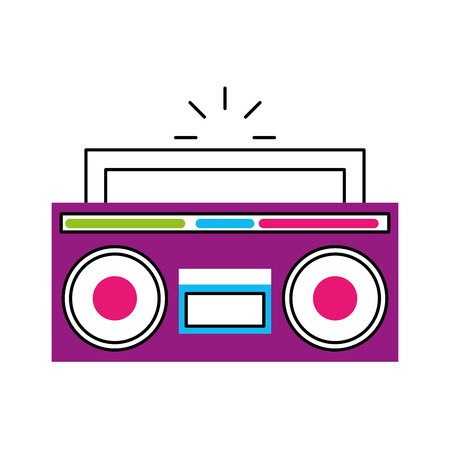 retro radio isolated icon vector illustration design Reklamní fotografie - 79613612