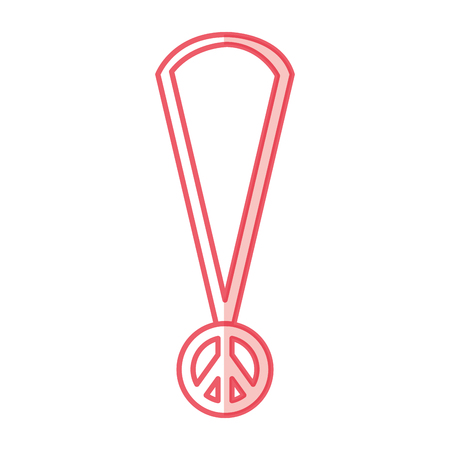 necklace with peace symbol isolated icon vector illustration design Stock Photo