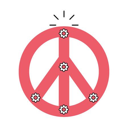 peace symbol isolated icon vector illustration design Stock Photo