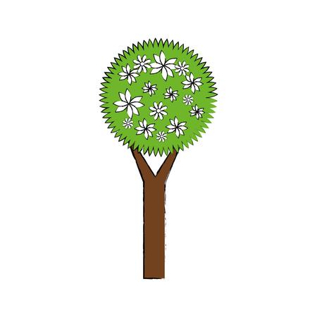 Flower tree isolated icon vector illustration graphic design Illustration