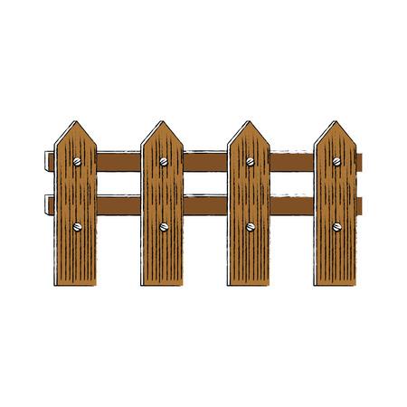 Gardening wooden fence icon vector illustration graphic design Ilustração
