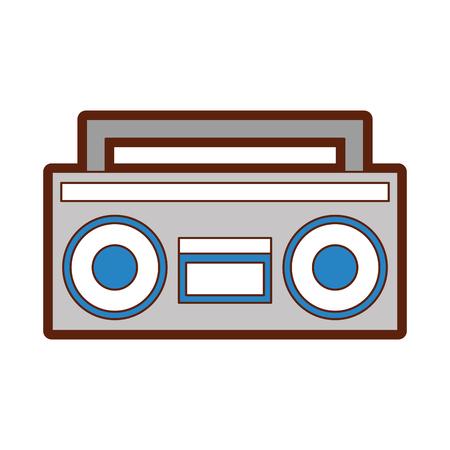 retro radio isolated icon vector illustration design Reklamní fotografie - 79751205