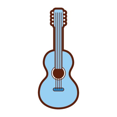 Diseño del ejemplo del vector del icono del estilo de la guitarra hippie Foto de archivo - 79751386