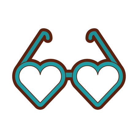 ハートの形をした眼鏡ベクトル イラスト デザイン