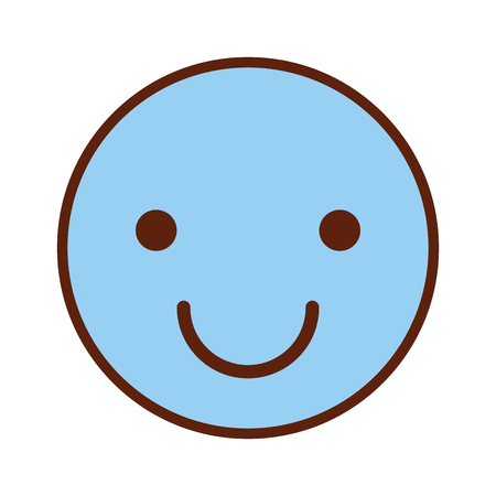 happy face emogy icon vector illustration design