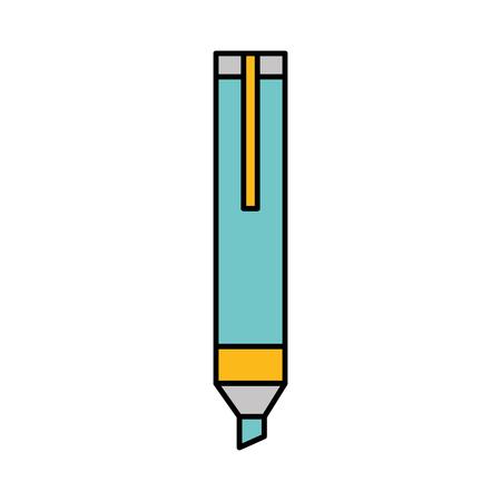 permanente marker geïsoleerd pictogram vector illustratie ontwerp Stock Illustratie