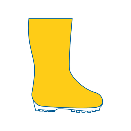 Gardening boots wear icon vector illustration graphic design