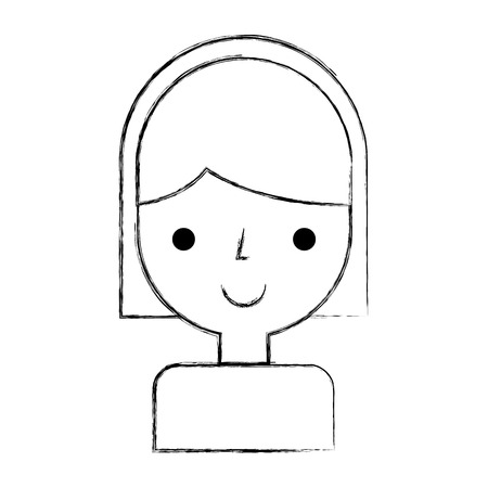 young woman avatar character vector illustration design Stock Vector - 79751511
