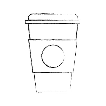 plastic cup isolated icon vector illustration design Ilustrace