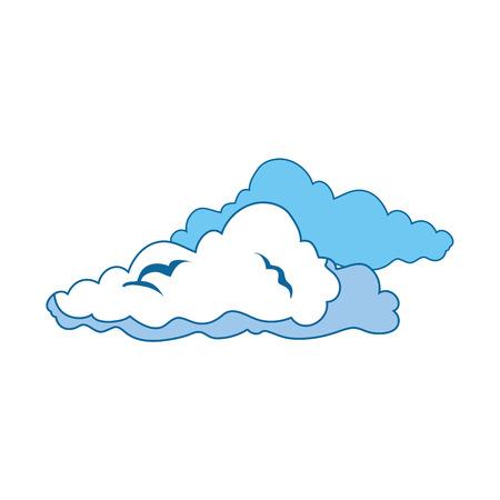 Clouds weather symbol icon vector illustration graphic design