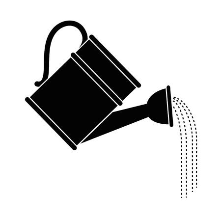 Latta di waterin per progettazione grafica dell'illustrazione di vettore dell'icona del giardino Vettoriali