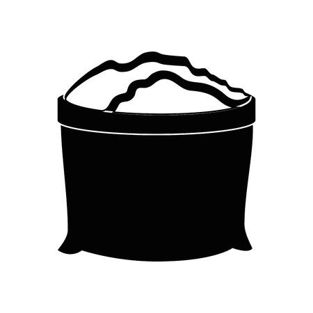 Sack with fertile land icon vector illustration graphic design
