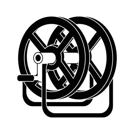 Reel winder tool icon vector illustration graphic design 向量圖像