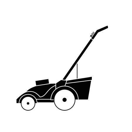 Grasmaaimachine het tuinieren grafische ontwerp van de pictogram het vectorillustratie
