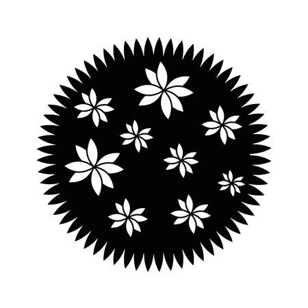 Mooie bloem tuinieren pictogram vector illustratie grafisch ontwerp