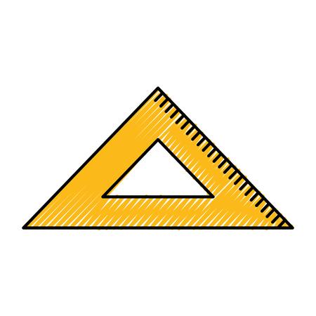 millimeters: rule school isolated icon vector illustration design Illustration