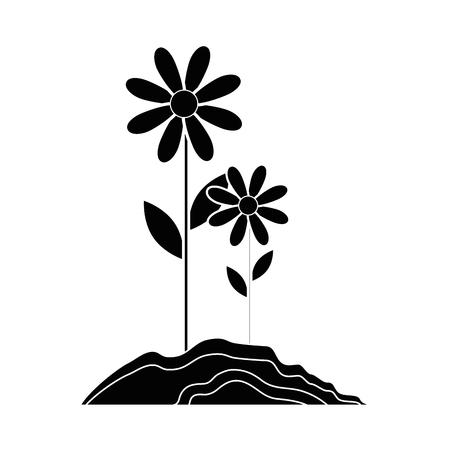 Beautiful flower gardening icon vector illustration graphic design Imagens - 79752235