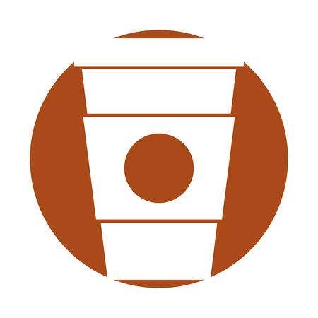 plastic cup isolated icon vector illustration design Illustration