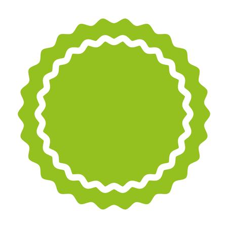 circle seal emblem icon vector illustration design