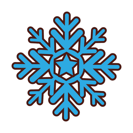 snowflake silhouette isolated icon vector illustration design