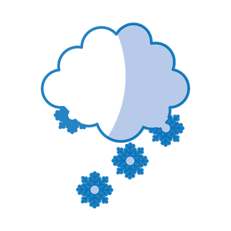 cloud with snowflakes icon vector illustration design
