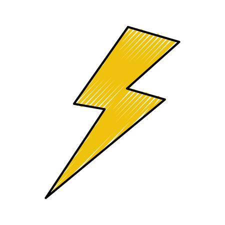 rayo de trueno aislado icono vector ilustración diseño