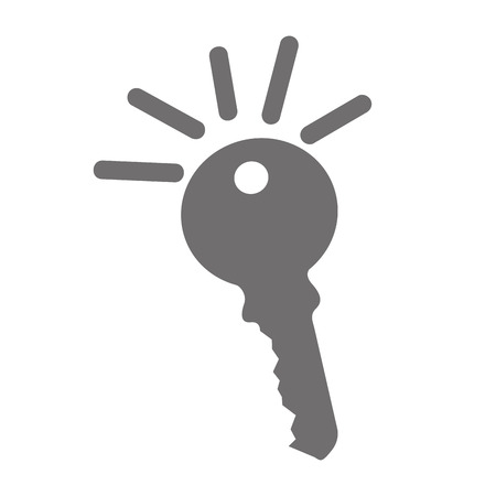 tool unlock: key door isolated icon vector illustration design