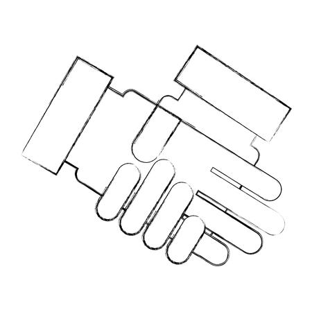ハンドシェイク事業分離アイコン ベクトル イラスト デザイン