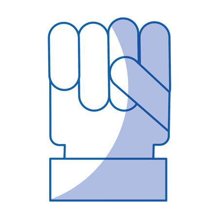 hand human fist icon vector illustration design Banco de Imagens - 79756902