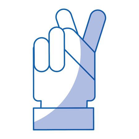 hand human peace and love symbol human Illustration