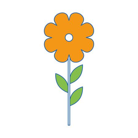 Bellissimi fiori giardinaggio icona illustrazione vettoriale illustrazione grafica Archivio Fotografico - 79757756
