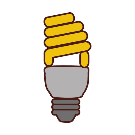 saving bulb isolated icon ilumination vector ilustration