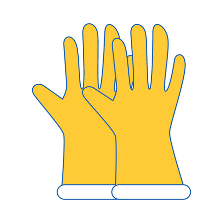 Gardening gloves equipment icon vector illustration graphic design