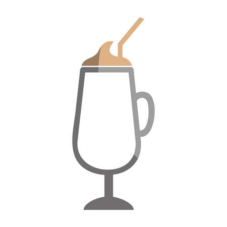 milkshake cup isolated icon vector illustration design