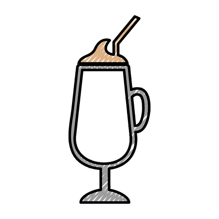 ice tea: milkshake cup isolated icon vector illustration design