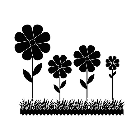 Beautiful flowers gardening icon vector illustration graphic design