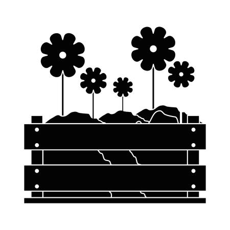 Bellissimi fiori giardinaggio icona illustrazione vettoriale illustrazione grafica Archivio Fotografico - 79759434