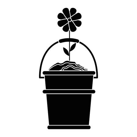 Progettazione grafica di giardinaggio dell'icona di vettore di bei fiori dell'illustrazione Archivio Fotografico - 79759438