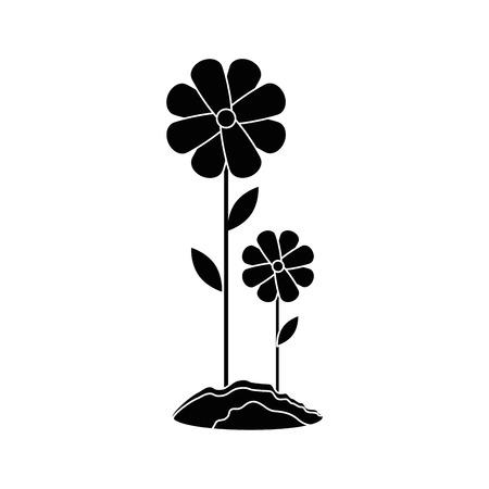 Bellissimi fiori giardinaggio icona illustrazione vettoriale illustrazione grafica Archivio Fotografico - 79757296