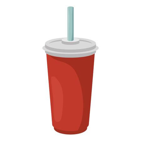 ソーダのプラスチック カップのアイコン ベクトル イラスト グラフィック デザイン  イラスト・ベクター素材