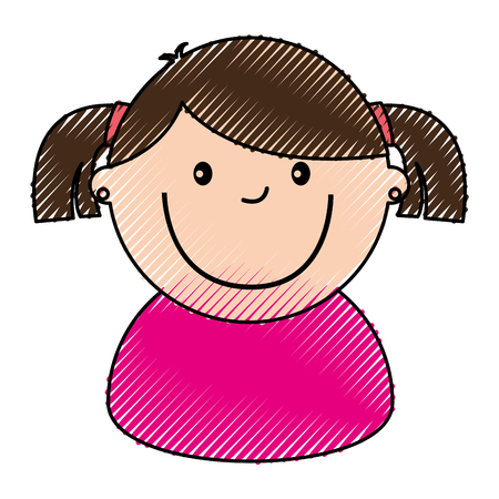little girl avatar character vector illustration design Illustration