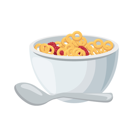 Breakfast cereal food icon vector illustration graphic design Ilustração