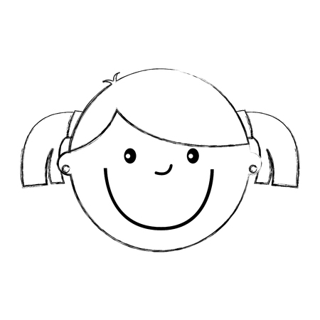 little girl avatar character vector illustration design Stock Vector - 79759703