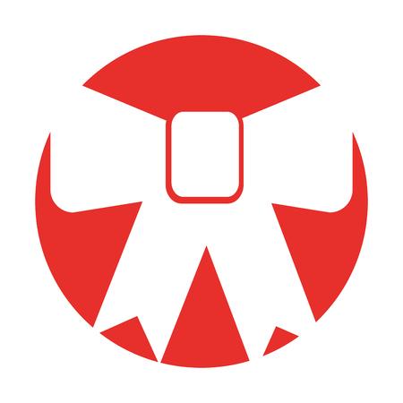 decorative bowtie isolated icon vector illustration design