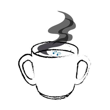 ホットでおいしいコーヒー カップのアイコン ベクトル イラスト グラフィック デザイン