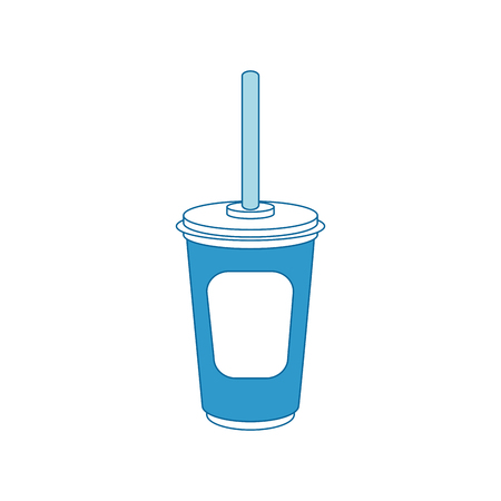 Soda plastic cup icon vector illustration graphic design