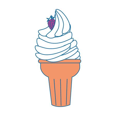 Delicious ice cream icon vector illustration graphic design