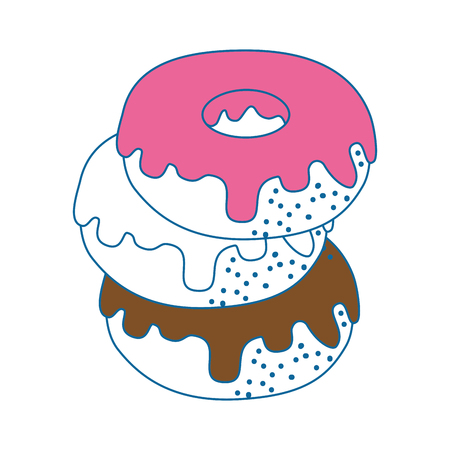 Donut delicious dessert icon vector illustration graphic design