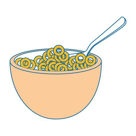 Ontbijtgraan voedsel pictogram vector illustratie grafisch ontwerp Stock Illustratie